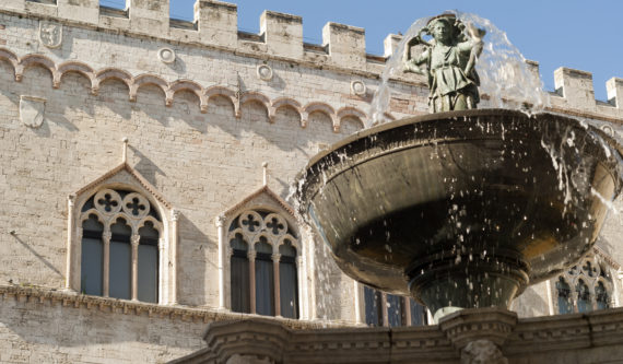 Perugia (Umbria, Italy): monumental fountain
